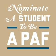 Nominate a student to be a PAF