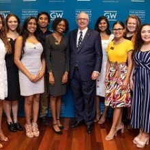 image of President LeBlanc and Presidential Fellows