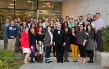 Alumni Weekend Reception Fall 2016 Group Photo