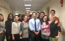 PAF alumnus Jeff Marootian with the current PAFs after a weekly meeting