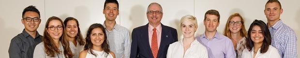 image of Presidential Fellows and President LeBlanc
